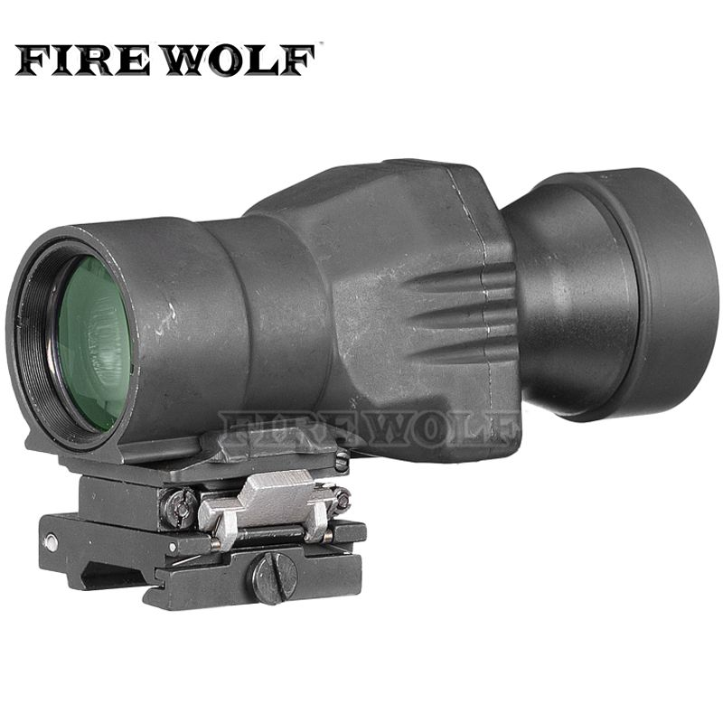 AR15 Scope Hunting Magnifier Scope 4x32 Optic Sight For .223 With Slip To Side Mount Airsof Gun Riflescope