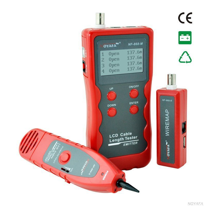 Cable length tester Free Shipping NF868 Multipurpose digital Cable Tracker for Length test/Finding English Version