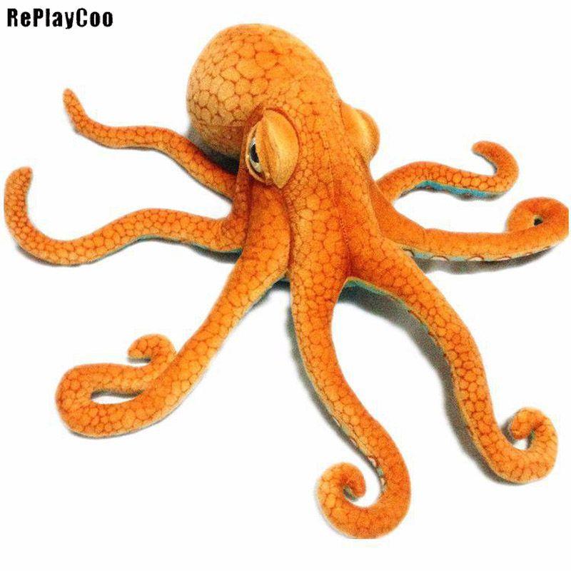 Octopus Plush Toy Giant Stuffed Cuttlefish Animal Soft Doll Stuffed Squids Plush 80cm/32