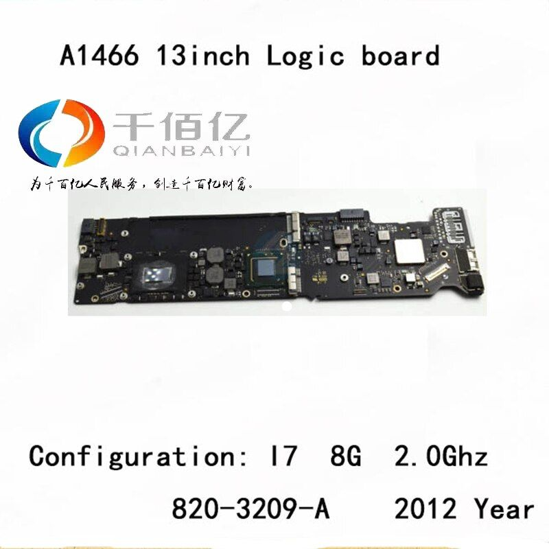 Used with 100% working Logic board for Macbook Air A1466 mother board 13'' I7 8G 2.2Ghz 2012 year 820-3209-A