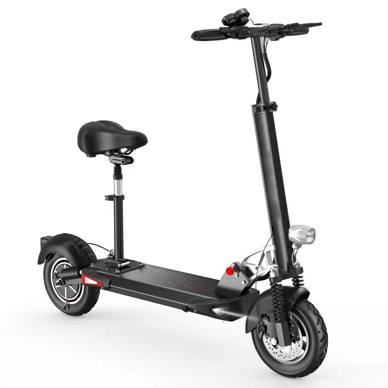 Daibot Folding Kick Scooter Adults Two Wheel Electric Scooters Single Motor 500W 48V 10 inch Foldable Electric Bike