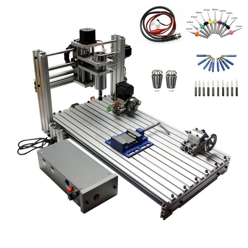 CNC fräsen maschine DIY 6030 3060 MACH3 Control Diy Mini CNC router arbeits bereich 29X57X9 cm PCB gravur Maschine