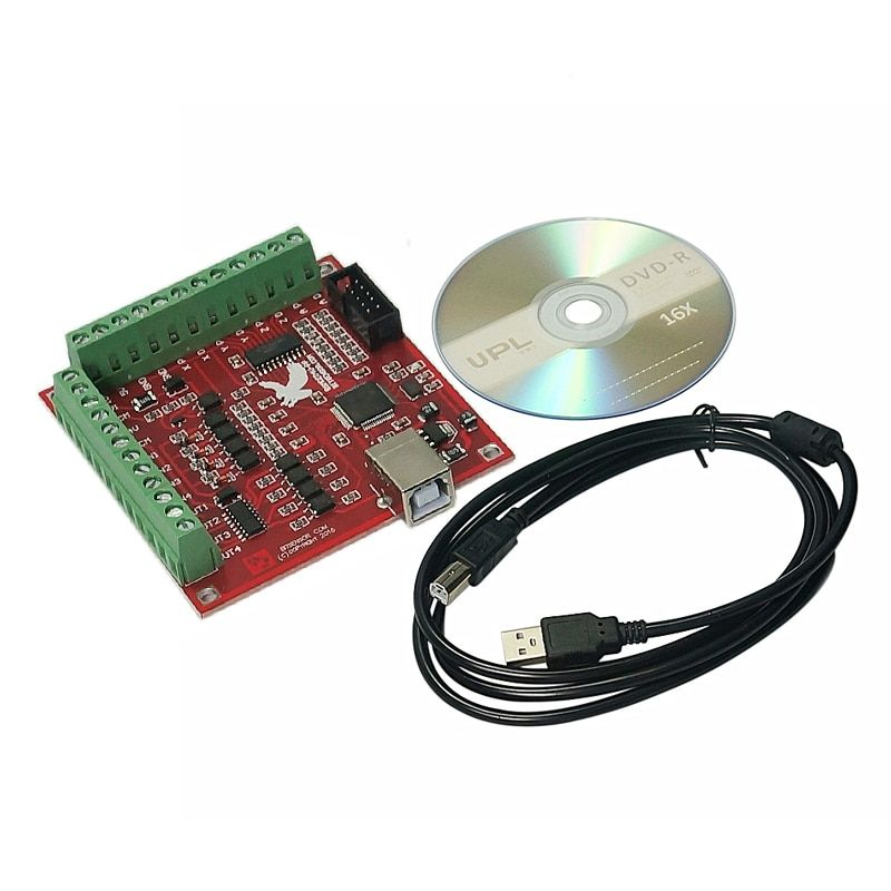 USB MACH3 100Khz Breakout Board 4 Axis Interface Driver Motion Controller for cnc router
