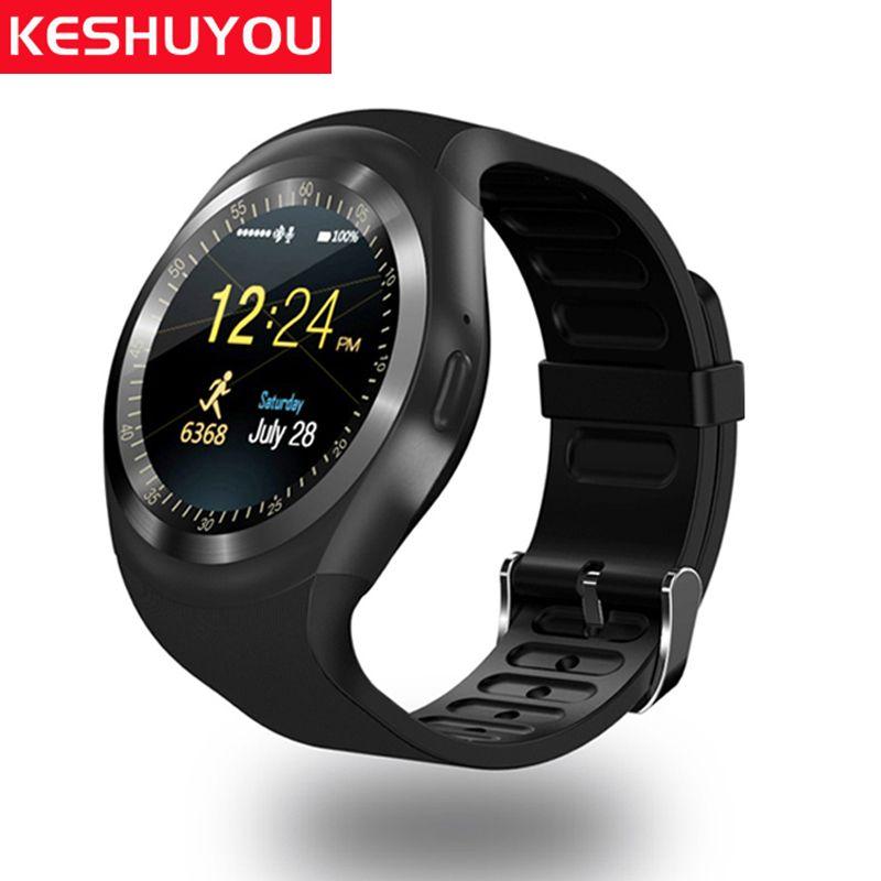 KESHUYOU Y1 montre téléphone smart watch ios femme sim carte disponible oui horloge montre-bracelet tracker bluetooth montre téléphone android