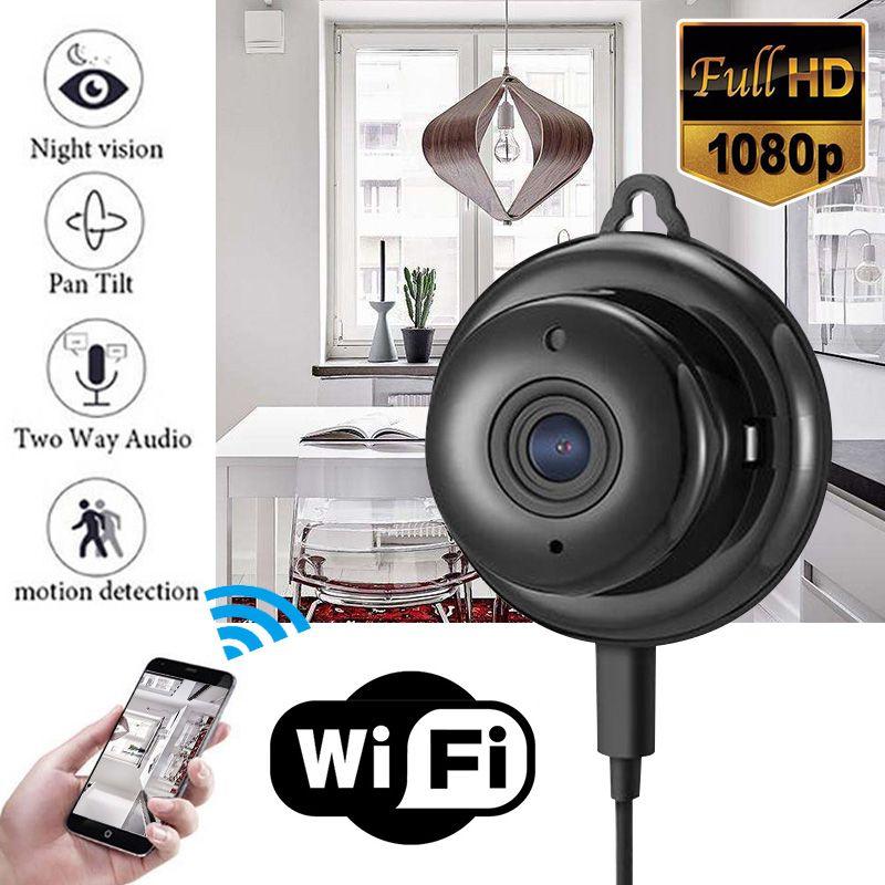 Mayitr 1pc Full HD 1080P Mini caméra sans fil WIFI IP Vision nocturne Mini caméscopes Kits pour la sécurité à domicile CCTV