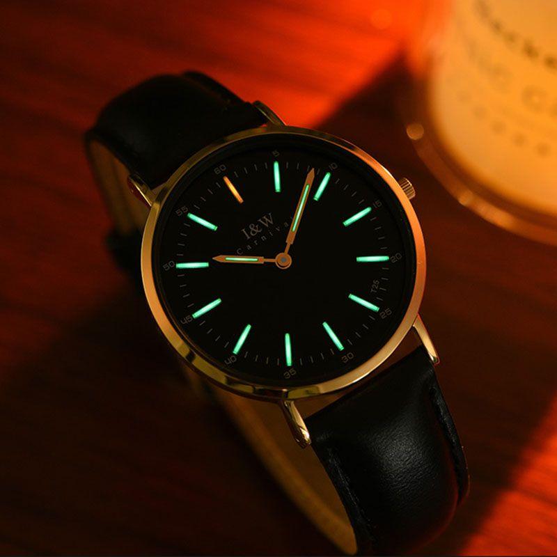 Carnival T25 Tritium Luminous Watch Women Ultra-Thin 6MM Clock I&W Ladies Quartz Watches Top Brand Luxury reloj mujer 2018 saat