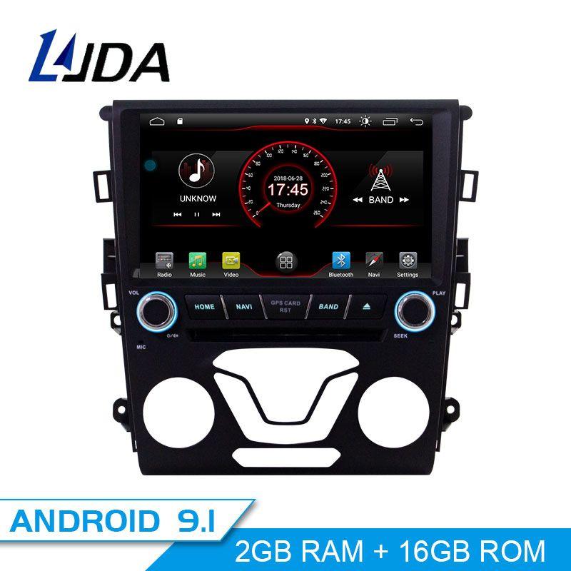 LJDA Android 9.1 Auto DVD Player Für Ford Mondeo Fusion 2013 2014 GPS Navigation 1 Din Auto Radio Multimedia WIFI Stereo steuergerät