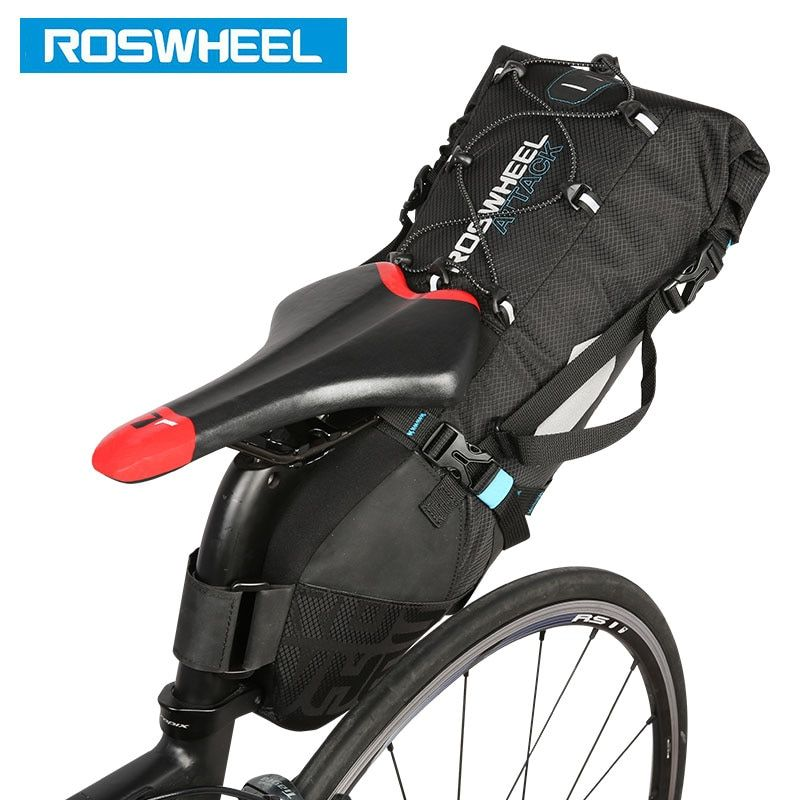 ROSWHEEL Attack #131372 Bicycle Seatpost Bag Bicycle Saddle Seat Storage Pannier Cycling MTB Road Bike Rear Pack Water tight