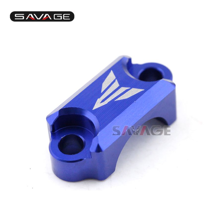 For YAMAHA MT-09 FZ-09 FJ-09 MT09 Tracer 2014-2016 Motorcycle CNC Brake Master Cylinder Clamp Handlebar Bar Clamp Cover Blue
