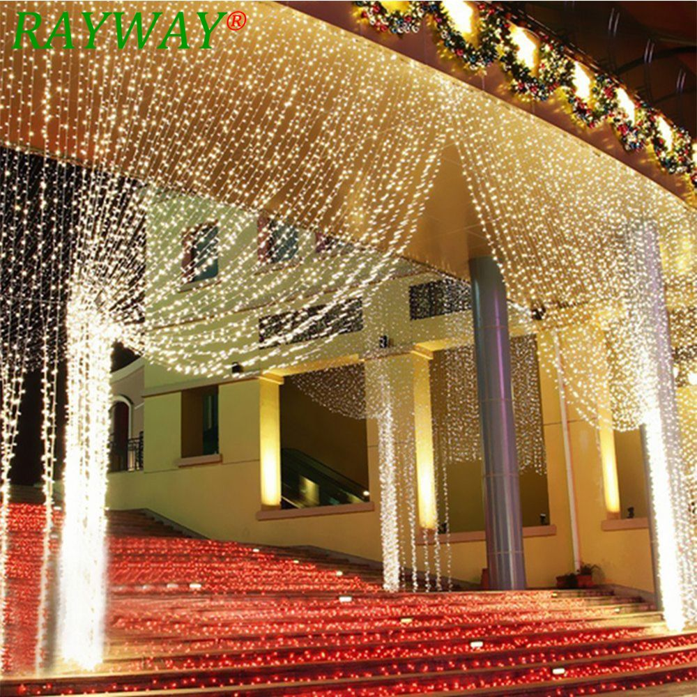 6M x 3M 600 LED Home Outdoor Holiday Christmas Decorative Wedding xmas String Fairy lights Garlands Strip Party Curtain Lights