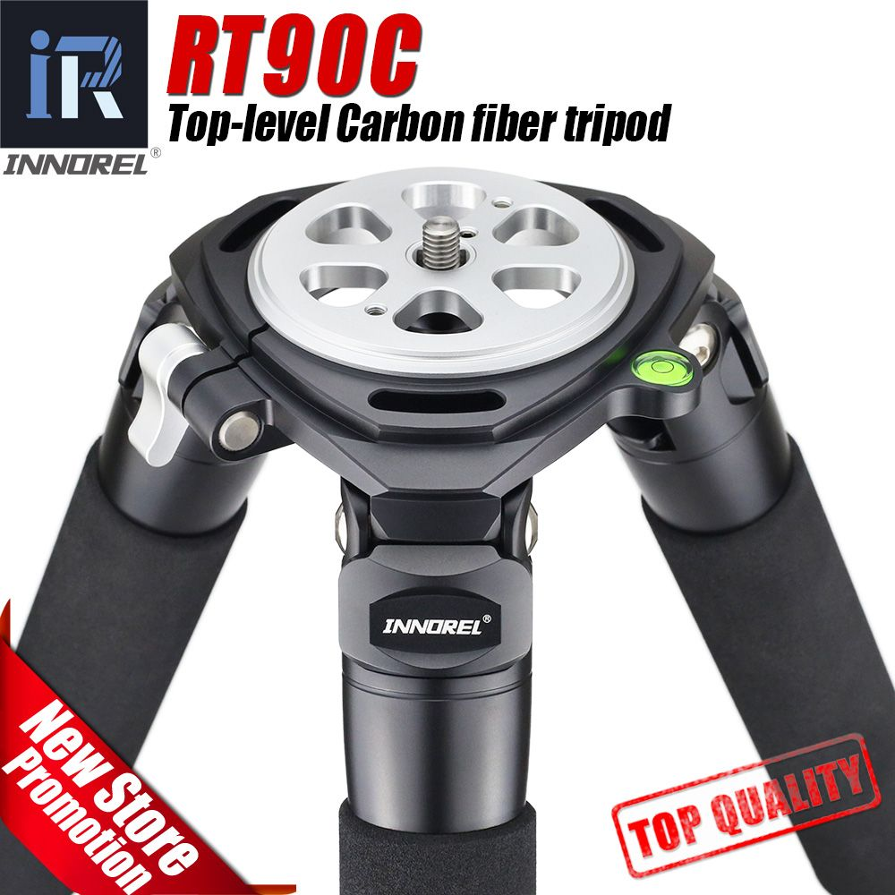RT90C flagship class Carbon Fiber Tripod professional Birdwatching heavy duty stand 40mm tube Hollow flange design 40kg load