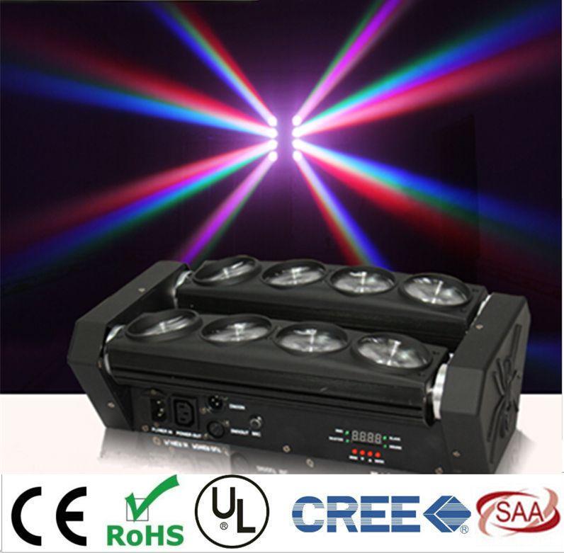 Новый Перемещение Головы Привело Паук Свет 8x12 Вт 4in1 RGBW Привело Участник Свет DJ Освещение Луч Перемещение Головы DMX DJ Light