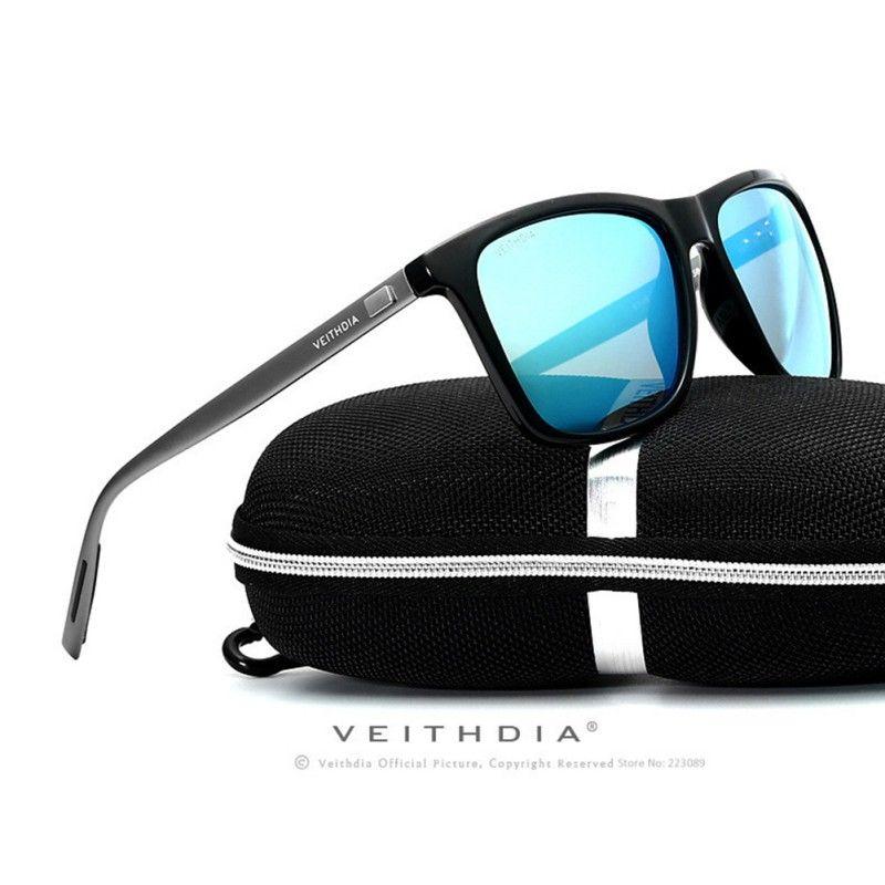 Mode luxe marque hommes 2018 polarisé UV400 lunettes de soleil conduite lunettes lunettes pour pilote adulte lunettes de soleil