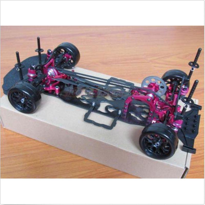 1/10 Alloy & Carbon SAKURA D4 AWD EP Drift Racing Auto Rahmen Body Kit # KIT-D4AWD