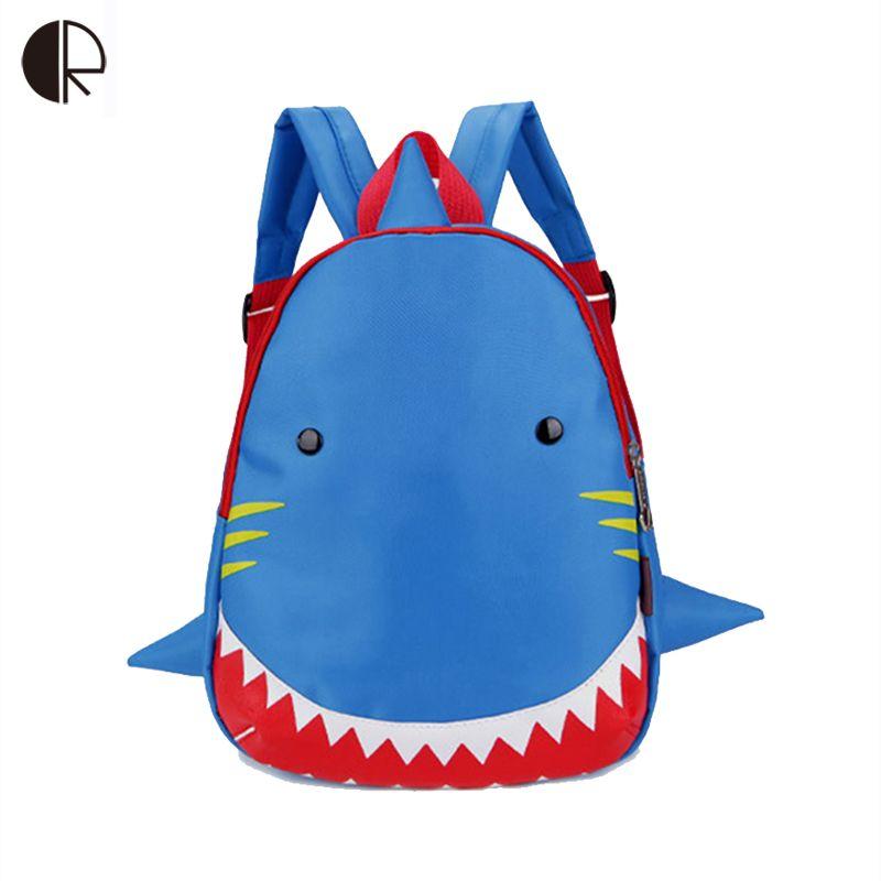 Kids Snack Backpack Animal cute Bag for 1-3 Years Boys and Girls Toddler Shark Bag Kindergarten Children Backpack Cartoon Bag