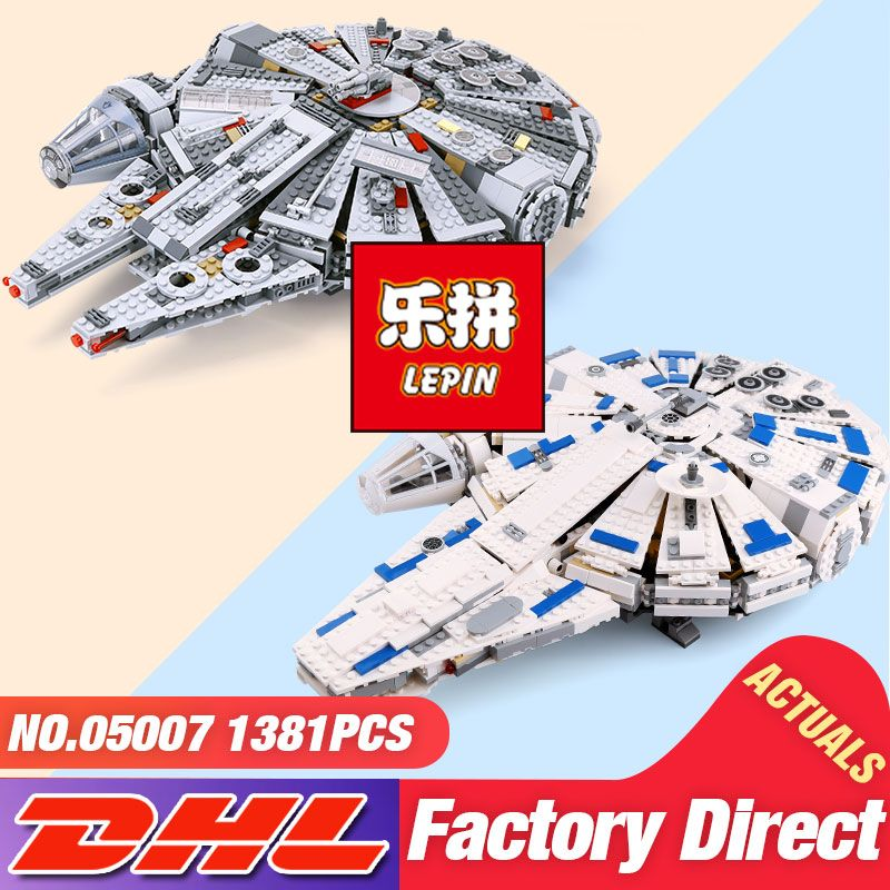 DHL Lepin 05007 05132 Star Toys Wars The 75105 Millennium Falcon Set 75192 Building Block Brick Assembly Toys Kid Christmas Gift