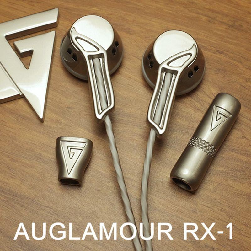 AUGLAMOUR RX-1 HIFI In Ear Earphone Flat Head Plug Audifonos Fone De Ouvido Auriculares Full Metal Earbud Headset ecouteur