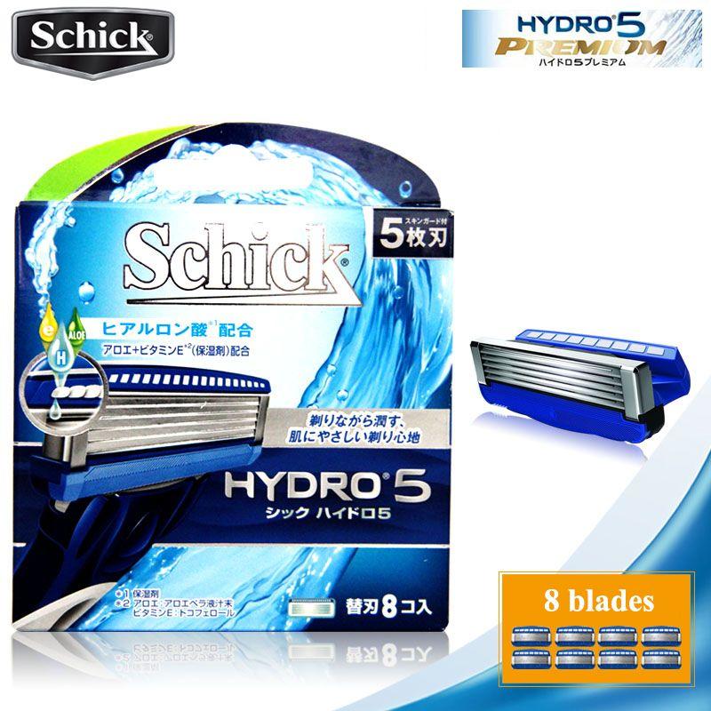 8 lames/lot D'origine Schick Véritable Hydro 5 rasoir lames Nouveau Paquet Meilleur Rasage De Rechange pour man remplacement