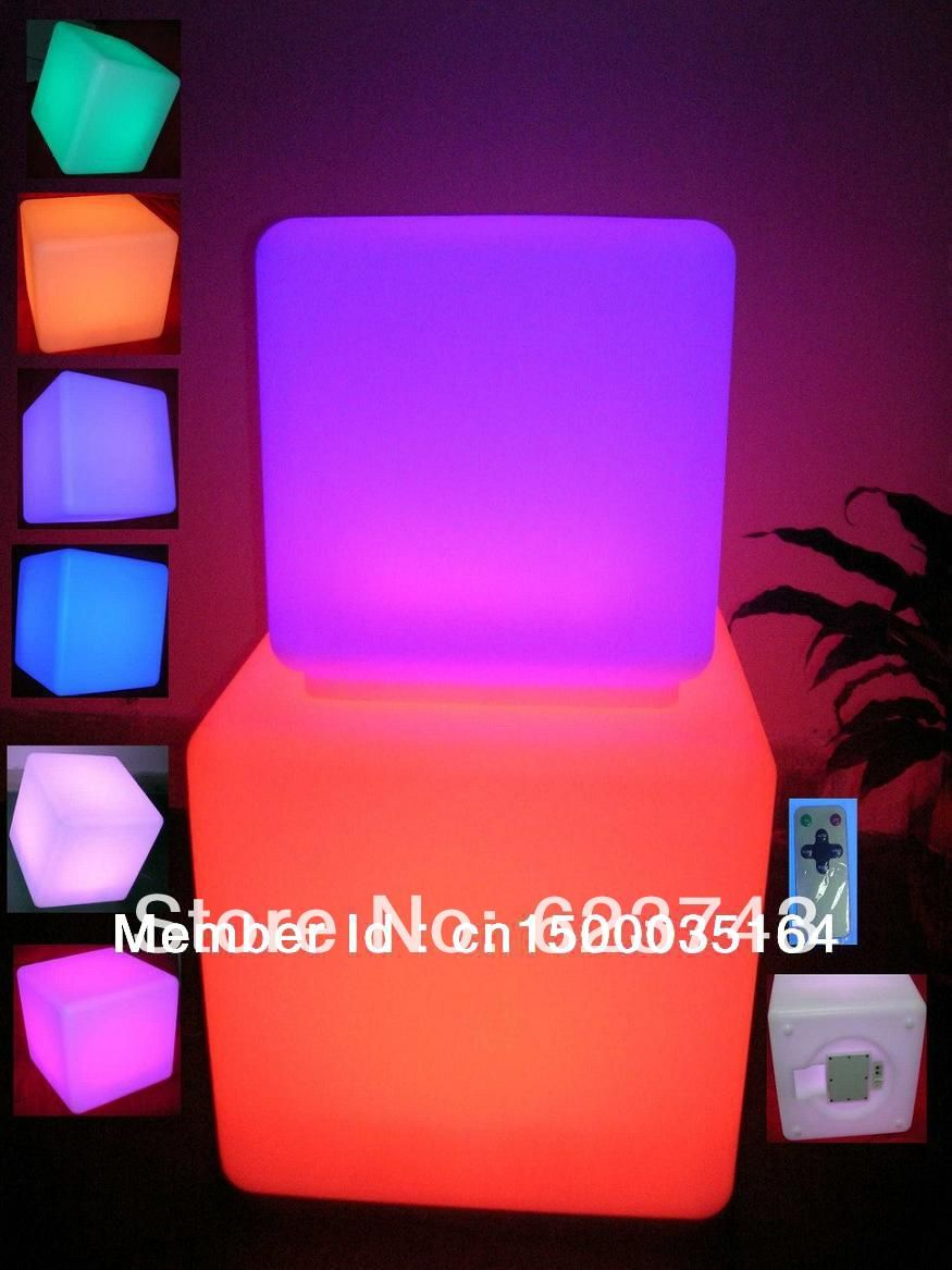 led illuminated furniture!waterproof 40*40*40CM led cube with remote control,LED light up stool chair,luminous led cube outdoor