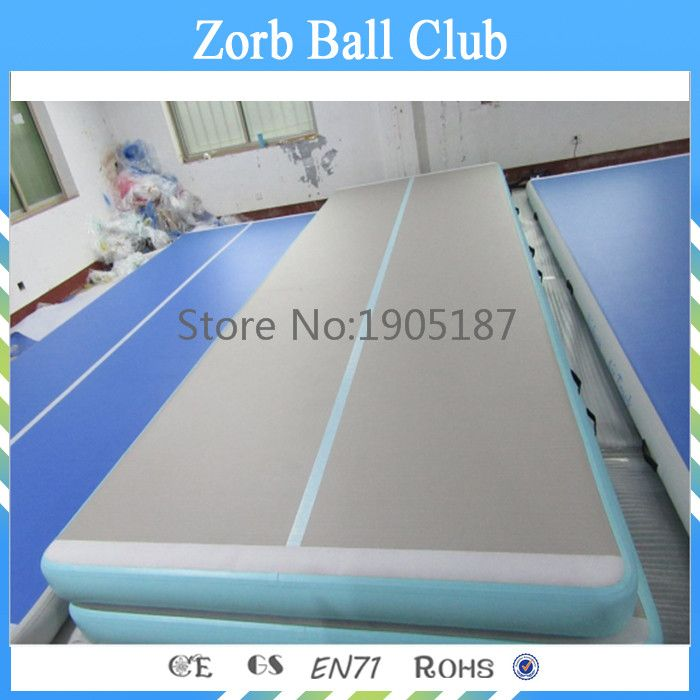 Free Shipping 4m Length 20cm Thickness 3ply DWF Drop Stitched Inflatable Gymnastic Mat Tumbling Inflatable airtrack