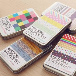 27 unids/caja Corea papelería estaño mano Libros etiqueta DIY diario material escolar kawaii