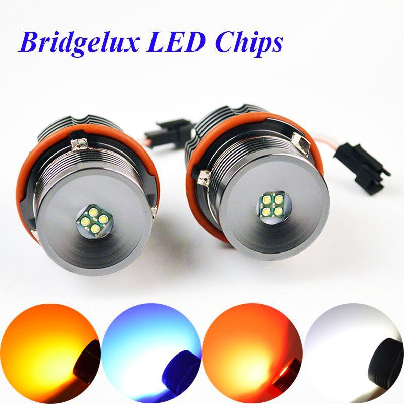 flytop LED Marker 2*20W 40W 1 Set CREE LED Chips/Bridgelux Angel Eyes White/Red/Blue/Yellow for BMW E65E87E39E53 E63 E64 E60 E61