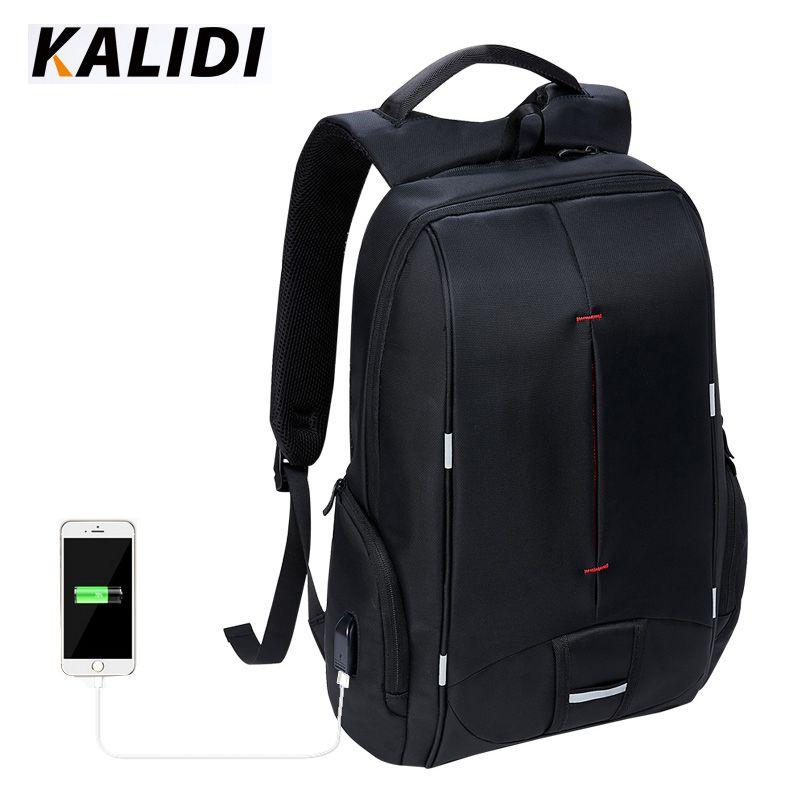 KALIDI Wasserdichte Laptop-tasche 17 zoll für Frauen Männer Schul Notebook-tasche 15,6 zoll USB Ladegerät Laptop Rucksack für Mackbook 17,3