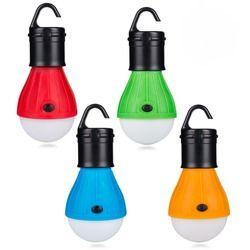 Mini linterna portátil tienda de luz bombilla LED lámpara de emergencia impermeable gancho linterna para acampar 4 colores utilizan 3 * AAA