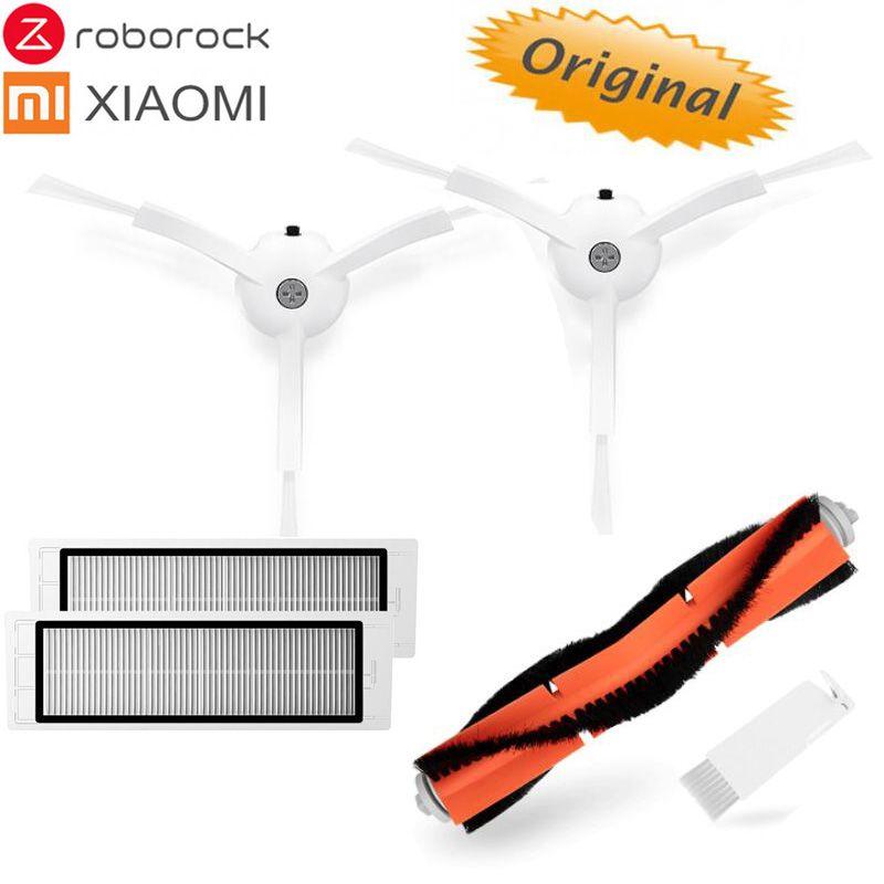 Pièce de rechange pour aspirateur robot Xiaomi/Roborock d'origine, filtre HEPA Wahsable, brosse principale, chiffon de nettoyage, brosse latérale