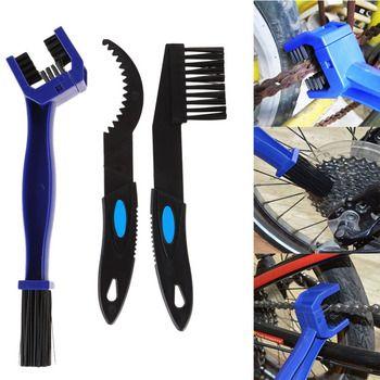 3pcs Bike Bicycle Chain Cleaning Brush set Motorcycle Bicycle Chain Cleaning Gear Scrubber Tools Portable Bike Chain Brush Kit
