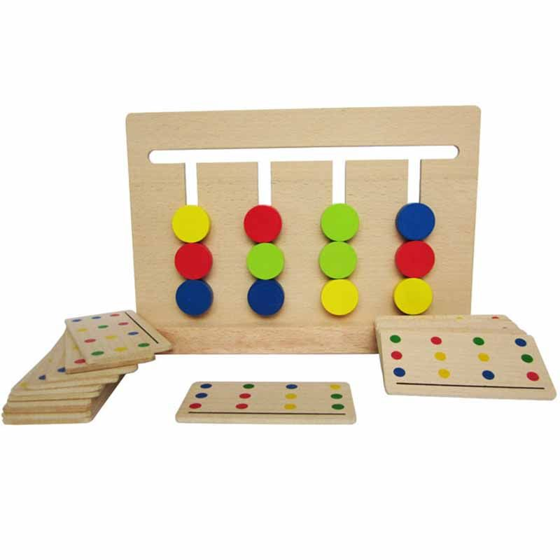 Baby Toy Montessori Four Colors Game Color Matching for Early Childhood Education Preschool Training <font><b>Learning</b></font> Toys