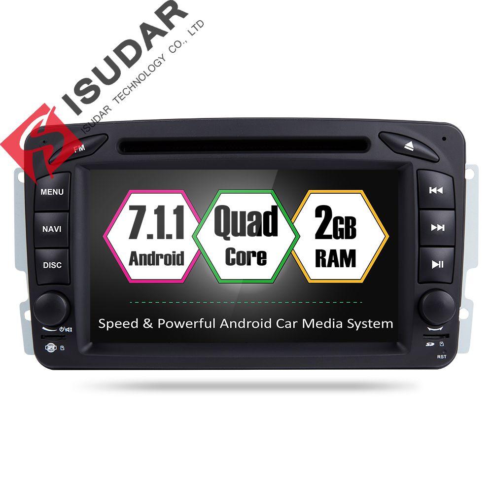Android 7.1 2 DIN 7 дюймов dvd-плеер автомобиля для Mercedes Benz/CLK/w209/w203/ w168/W208/W463/Vaneo/Viano/Vito Оперативная память 2 г WI-FI GPS Радио