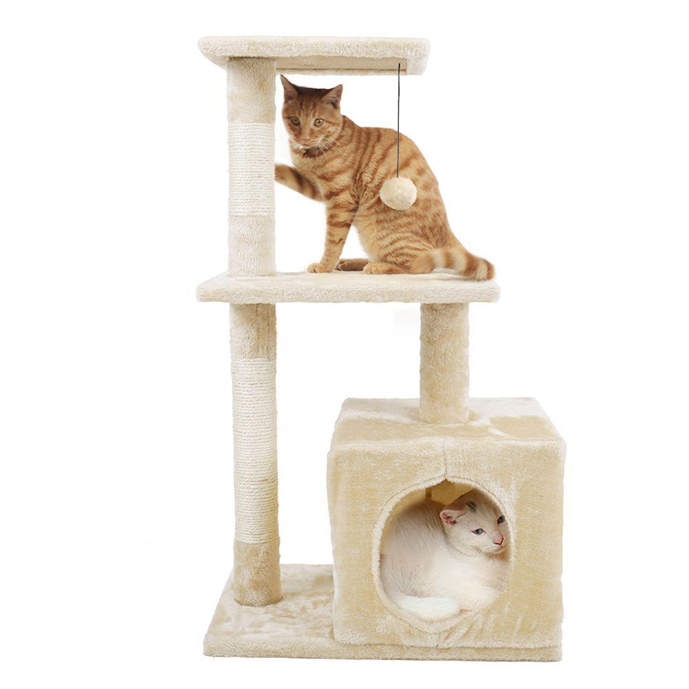Livraison domestique Animal de luxe meubles PAWZ route chat arbre Animal de compagnie maison meubles chat jouets griffoir bois escalade arbre