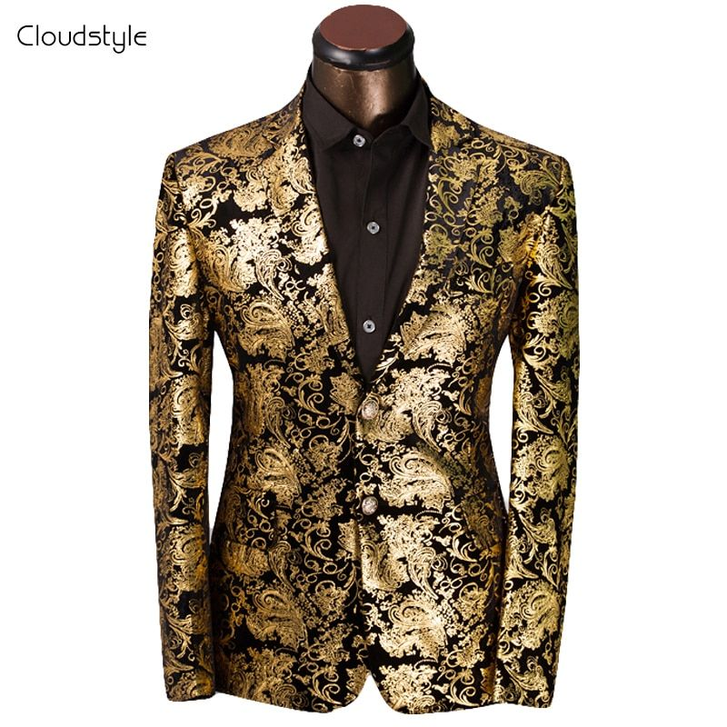 2018 Luxury Men Suit Tuxedo Blazer Slim Fit Suit Unique Mens Male Blazers Dress Jackets Wedding Party Shows Dress Costume