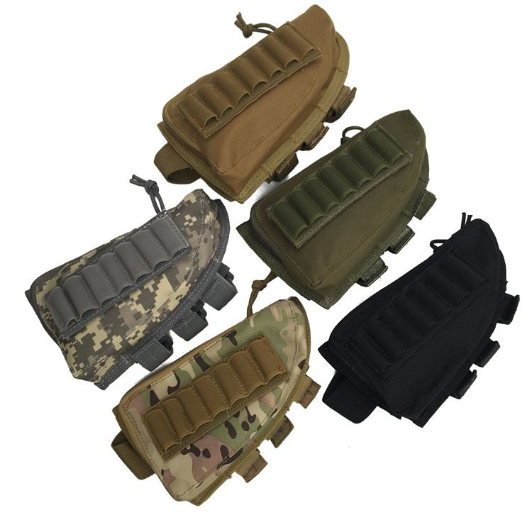 Tactical Buttstock Shotgun Rifle Stock Ammo Portable Pouch Shell Cartridge Holder Pouch Holder