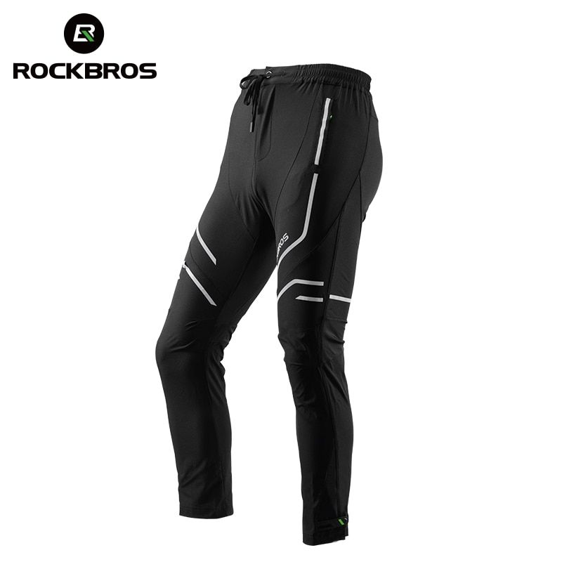 ROCKBROS Cycling Bike Sport Pants Breathable Quick Dry Cycling Pants Trousers Tight Reflective Riding MTB Bike Bicycle Equipment