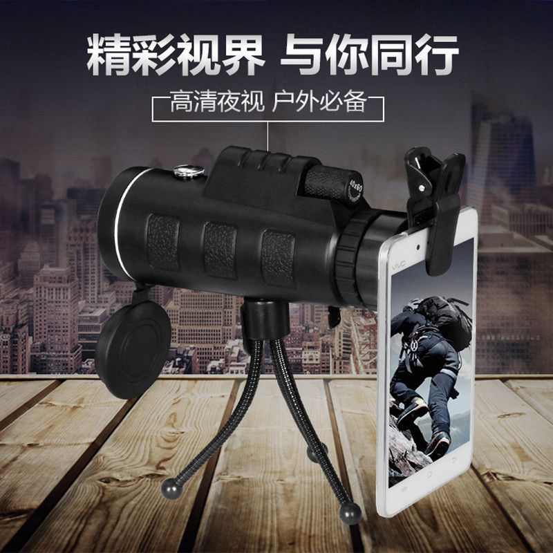 Universal 40X Optical Zoom Telescope Camera Lens Clip Mobile Phone Telescope For iPhone6 for Samsung for HTC for Huawei Xiaomi