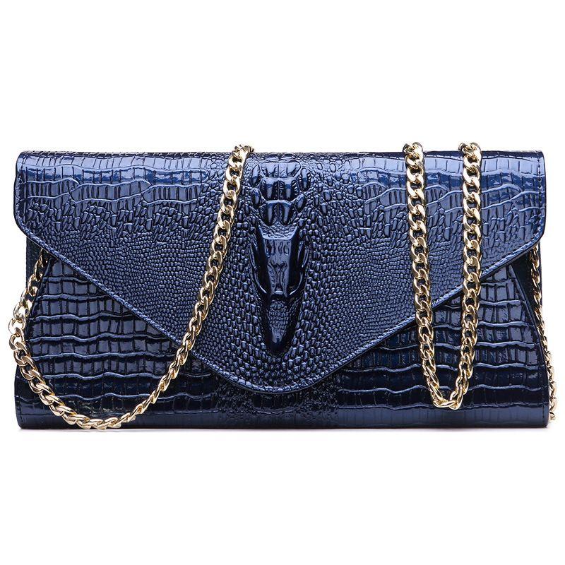 Echtes Leder Frauen Handtaschen Kette Umhängetasche Echt Art-rindleder-geldbeutel-organisator-mappen Abendgesellschaft Handtaschen Klassische Mädchen Geschenk