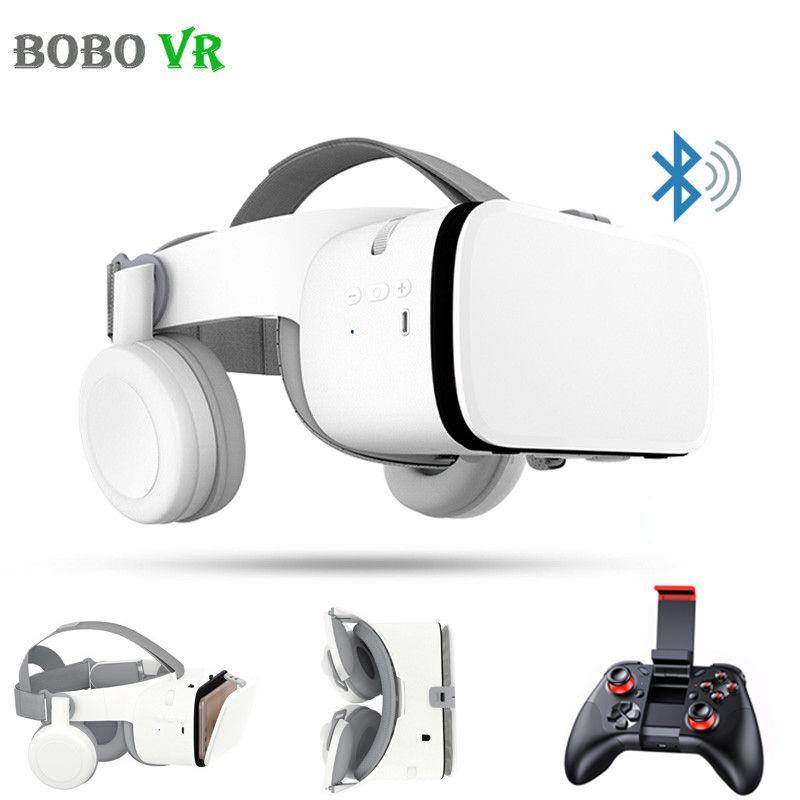 Bobovr Z6 3D Gläser Virtuelle Realität Immersive VR Headset Bluetooth Wireless Smartphones Google Karton Box mit Controller