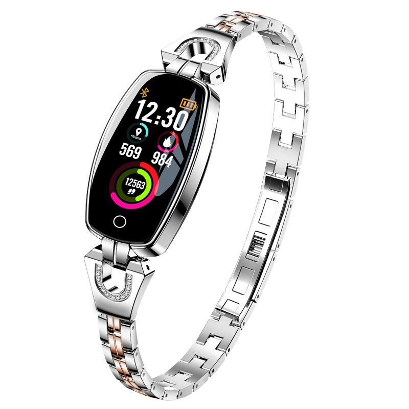 Luxury smart wristband for women Sport Fitness tracker bracelet Heart Rate Monitor smart band best gift for girl Xiaomi iphone