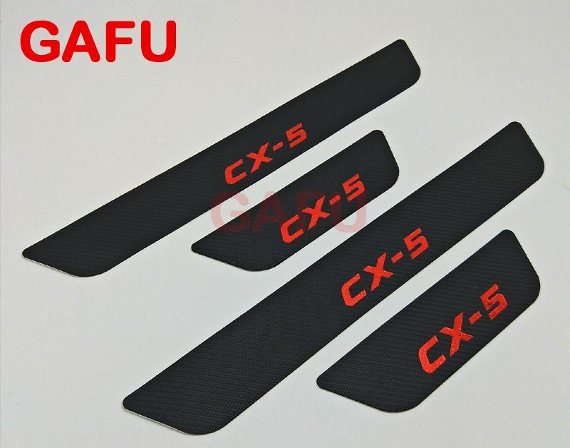Fit For Mazda CX-5 CX 5 CX5 Door Sill Scuff Plate Guards Door Sills Strip Protector Stickers Car Accessories Sticker 2017 2018