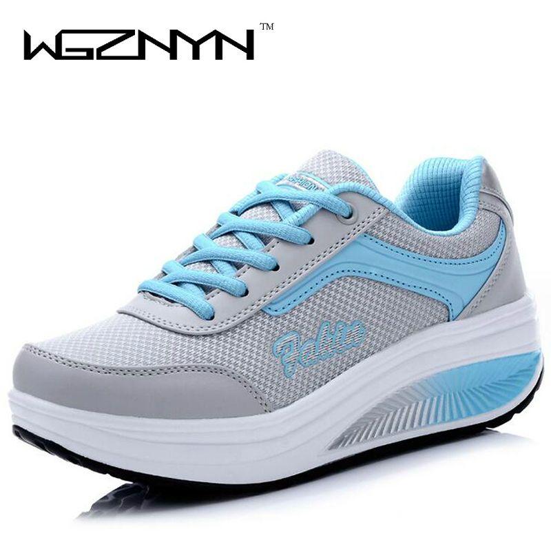 WGZNYN 2018 nouveau été Zapato femme respirant maille Zapatillas chaussures pour femmes baskets chaussures plates EUR taille 35-40