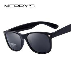 Мужские классические солнечные очки MERRYS, брендовые дизайнерские поляризационные солнцезащитные очки для мужчин, с заклепками, в стиле ретр...