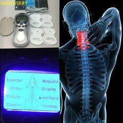 4 Perawatan Kesehatan Elektroda Puluhan Akupunktur Terapi Mesin Massageador Listrik Pulsa Pelangsing Tubuh Pematung Massager Aparat