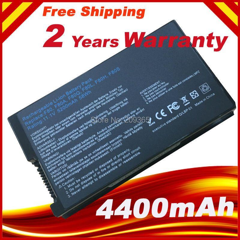 Laptop akku für asus f8 f80 f80h f80a f80s f80q f80l f80m F81 F81SE X82SE F83 F50S X61 X61W X61S X61GX X61SL X61Z X61SL X61Z