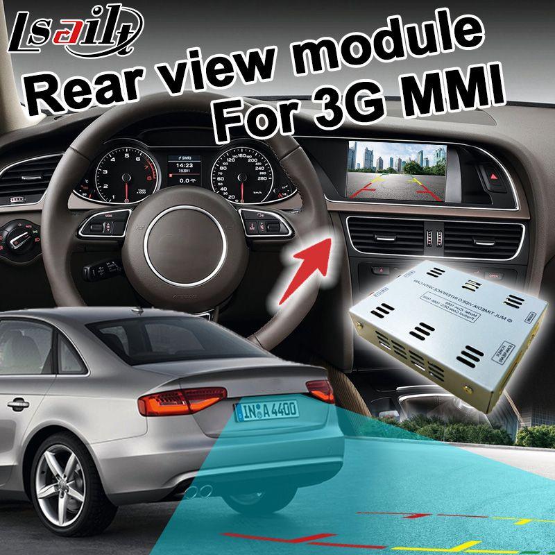 Rückansicht adapter interface für Audi 3g MMI A1 A4 A5 A6 A7 A8 Q3 Q5 Q7 RCA signal eingang spiegel link unterstützung