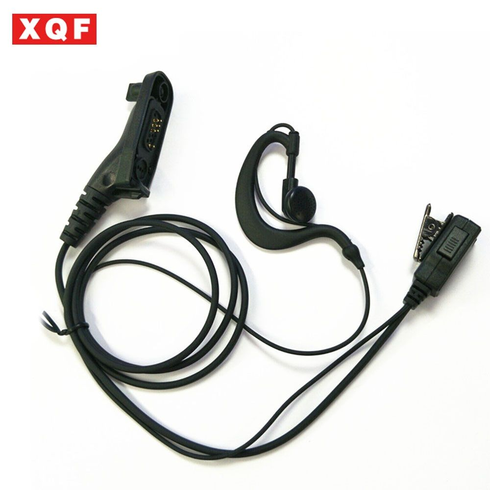 XQF Hanging Hang Earpiece PTT Earphone Headset Surveillance Mic For Motorola XIR P8268/P8260/8600/8200/ DP3400/XPR6550 radio