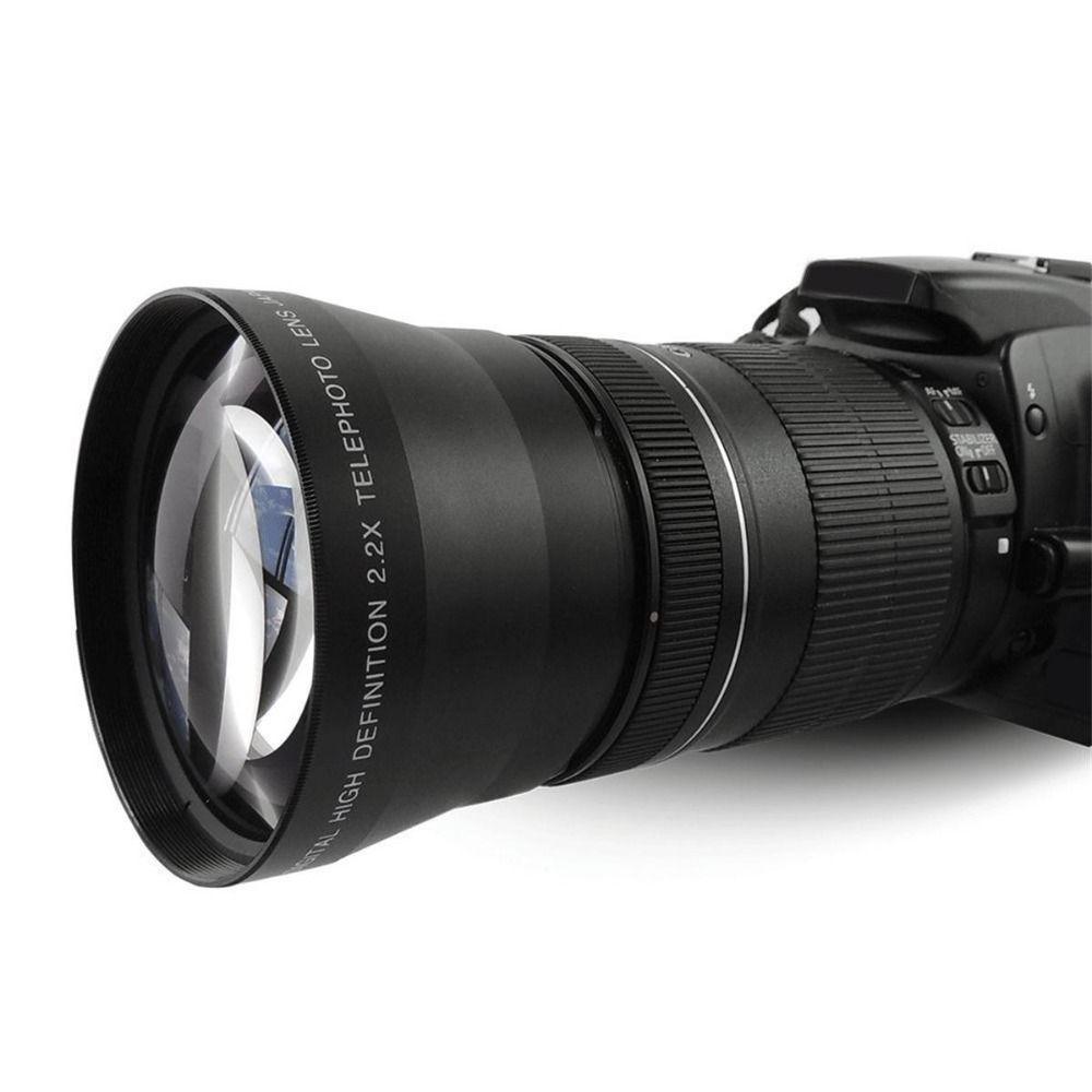 Lightdow 67mm 2.2x Téléobjectif Téléobjectif pour Canon EOS 550D 600D 650D 700D 60D 70D 18-135mm Objectif Nikon 18-105mm Lentille