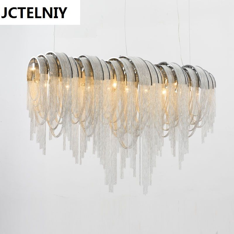 Italienische luxus Atlantis aluminium vorhang kette drop wohnzimmer esszimmer licht villa hotel technik ideen LED lampen