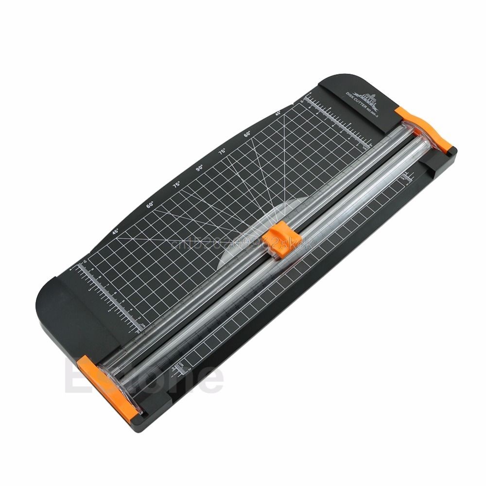 Papier Cutter Trimmer Jielisi 909-5 A4 Guillotine Herrscher Papier Cutter Trimmer Cutter Schwarz-Orange # H029 #